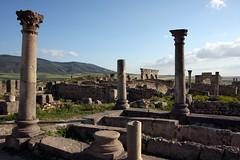 The Roman Hills (MykReeve) Tags: sky cloud clouds countryside hill columns hills morocco column volubilis geo:lat=34074648 geo:lon=5555059