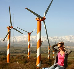 Israel - Metal Lollipops (lovemyblackcat) Tags: panorama mountain snow windmill landscape israel view lollipop  snowcappedmountain  40d israellandscape