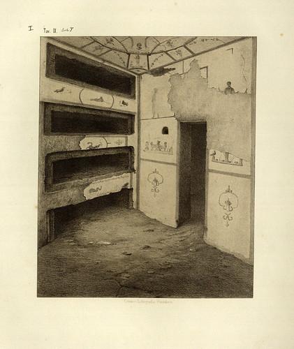 003- Puerta y pared derecha del cubiculo en el sepulcro de S. Cornelio-La Roma sotterranea cristiana - © Universitätsbibliothek Heidelberg