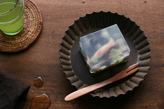 koi carp jelly (bananagranola (busy)) Tags: summer food cooking japan dessert japanese traditional homemade sweets jelly japanesefood wagashi yokan nerikiri kanten kingyoku