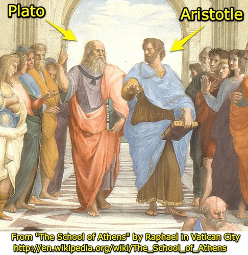 "From ""The School of Athens"" by Raphael in Vatican City"