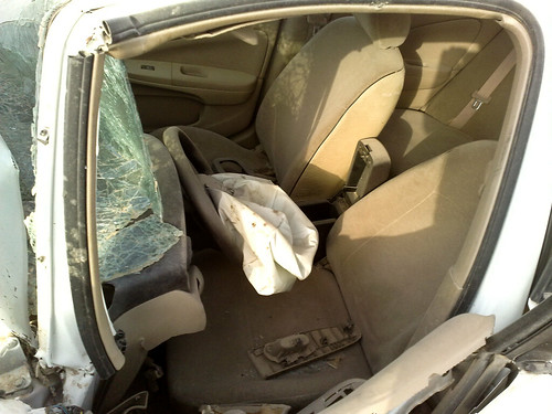 Inside the Crashed Car