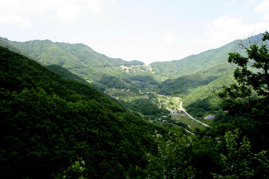 Domaryeong Pass(840 m above sea level) from a far