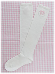 Heart charm embroidery socks (white) (Lovely little pony) Tags: stock lolita angelicpretty