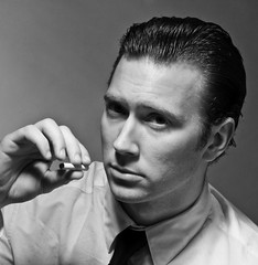 Humphrey Bogart 1 (grahamcase) Tags: blackwhite canon20d humphreybogart grahamcase studio316