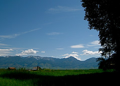 The Bridger Mountain Range (Powers, Montana, United States) Photo