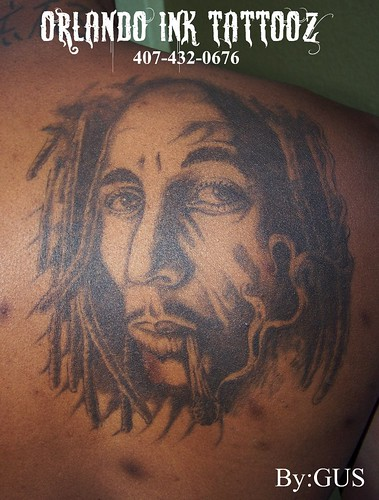 Bob Marley Tattoo by Orlando Ink Tattoos. bob marley tattoo