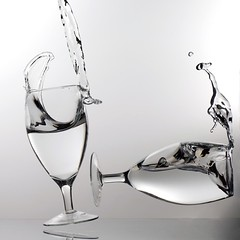 Knock Out: (ICT_photo) Tags: ontario broken water glasses guelph splash spill ianthomas ictphoto