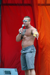 Matthew Rush (RHColo_General) Tags: gay man men june tattoo colorado muscle bare chest pride denver parade host 2009 capitolhill pridefest matthewrush deborahgibson civicpark