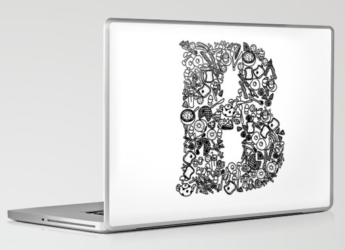 B for Breakfast laptop skin