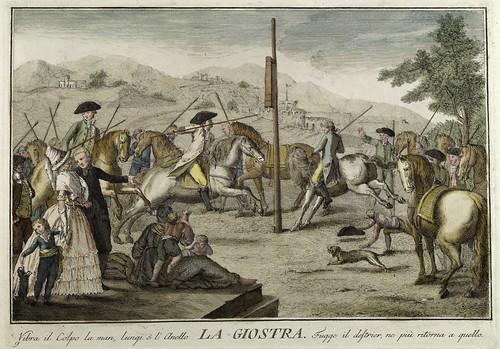 007-El carrusel- Giuochi Trattenimenti e Feste Annue Che si Costumano in Toscana 1790- Giuseppe Piattoli