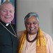 Hindu leader Rajan Zed with Catholic Bishop Edward Burns