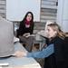 Rachel Cox MFA '10 and mentor Jessica Jackson Hutchins