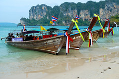 Railay (MartinePasquini) Tags: ocean trip travel blue trees sunset sea summer sky holiday tree tourism beach nature water statue giant relax thailand island temple coast sand holidays rocks asia paradise peace tour phi phiphi bangkok buddha postcard sandy country alien religion culture royal tranquility wave buddhism grand lagoon palace palm clear exotic serenity sacred tropical vegetation romantic don kata ao transparent sands phuket wat kho leh tropics karon krabi nang similan waterways phra kaew railay mythological khochang exoticism