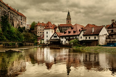 Cesky Krumlov (Stevacek) Tags: castle wet architecture geotagged nikon gloomy rainy czechrepublic ceskykrumlov 2010 d300 sigma1020mm eskkrumlov eskrepublika stevacek geo:lat=48810719 geo:lon=14315024