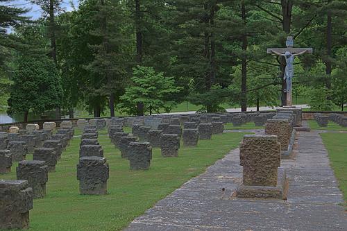 Saint Meinrad Archabbey, in Saint Meinrad, Indiana, USA - cemetery