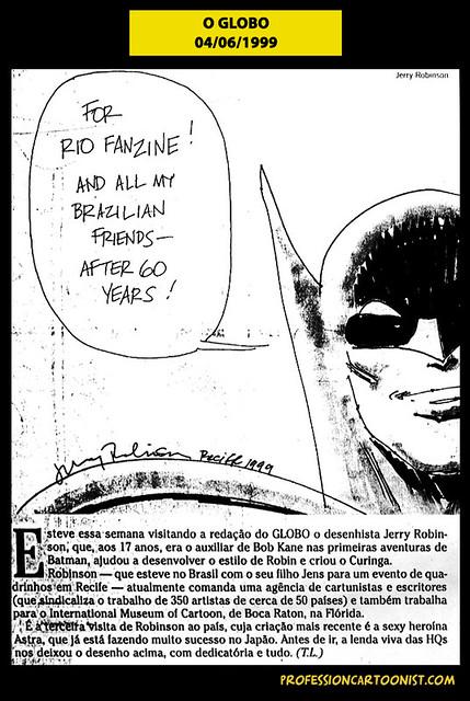 """""""For Rio Fanzine"""" - O Globo - 04/06/1999"""
