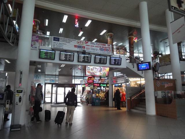 Interior da Estação de camionetas em Sofia