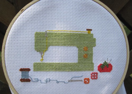 Sewing machine cross-stitch