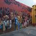 Murale al lato della Piojera in Santiago