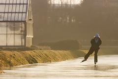 paul schaats (arnoll1981) Tags: winter dutch nederland sloot kou ijs schaatsen weer noordwijkerhout schaats