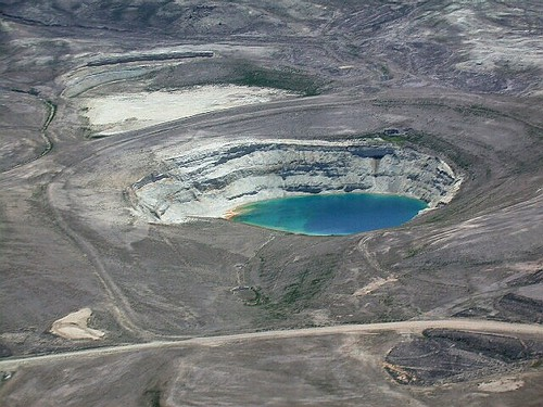 Open-Pit Uranium Mining - Gas Hills, Wyoming - Aerial View