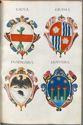 Familienwappen kleinerer Adelshäuser von Verona mit Buchstaben i