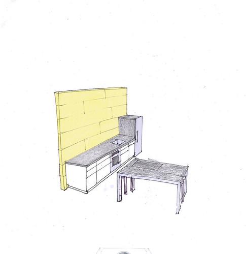 Kitchen Sketch 1