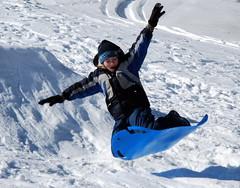 Magic Carpet Ride (tamalee) Tags: snow jump air hero winner sledding babymomma 15challengeswinner friendlychallenges beautifulworldchallenges babymommaaward friendlychallengeswin 15challengesaward herowinner