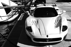 Maserati MC12 (Explored!) (Adam van Noort) Tags: blue 2 white black france canon boats eos 1 harbor boat blackwhite 300d monaco carlo monte 28135 ef 28135mm mc12 maserati corsa