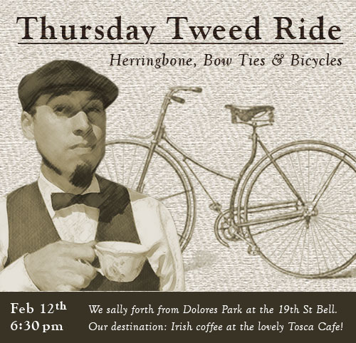 Thursday Tweed Ride, Feb 12th