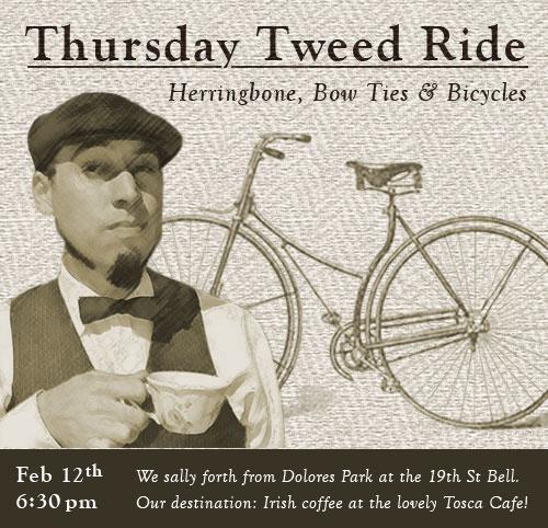 Thursday Tweed Ride, Feb 12th