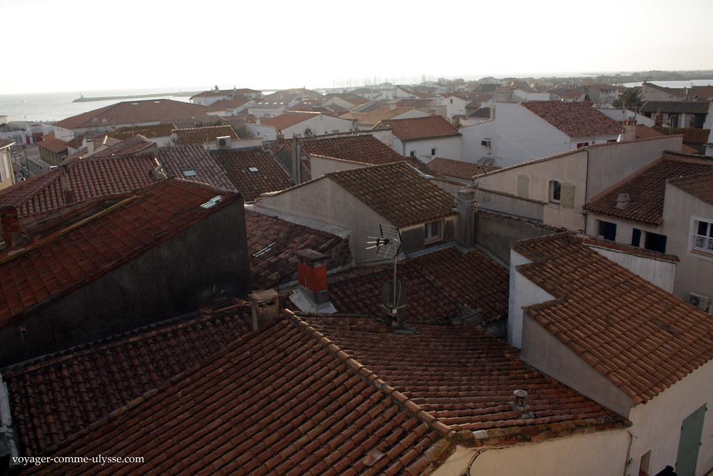 Mar de telhas e telhados de casas
