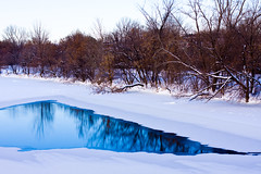 Rideau River (coffeego) Tags: winter snow ontario ice water canon river landscape december walk ottawa blues octranspo rideauriver newedinburgh busstrike 40d stpatrickbridge