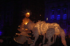 Girl & Wolf Lantern Puppets (AlxGrn) Tags: liverpool lantern capitalofculture liverpool2008 capitalofculture2008 mannisland wolfpuppet liverpooltransitionevent illuminatedwolfpuppet