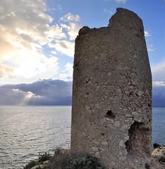 Perdusemini (FRANCO CERNIGLIA) Tags: de tramonto torre su sole buco prezzemolo cadente abbandonata spagnola tramonta perdusemini wwwsardiniatouristguideit