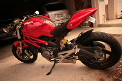 Ducati Monster 696 with QuatD ExBox (evandeh) Tags: monster ducati 696 exbox quatd
