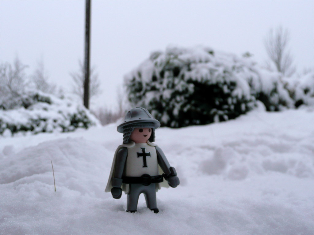A hard day's Knight - in the snow drifts