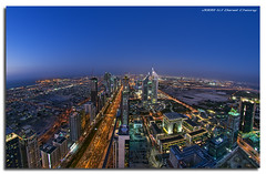 The Veins Of Dubai #4 (DanielKHC) Tags: road building night digital interestingness high construction nikon dubai cityscape floor dynamic towers uae fisheye emirates explore zayed range sheikh dri hdr blending d300 dynamicrangeincrease 72th danielcheong nikkorfisheye105mm bratanesque danielkhc gettyimagesmeandafrica1