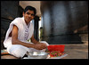 sivagiri, varkala (sash/ slash) Tags: india man flower work temple kerala varkala garland sash kollam guru trivandrum sajesh ashramam sreenarayanaguru attingal sivagiri