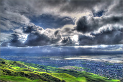 mY first HDR (Februum) Tags: california sun mountain clouds season landscape bay spring high cool scenery cloudy hiking top hill scenic sanjose fluffy peak sunny hike fremont oneday ugly bayarea valentines ft rays miles february sunrays 2009 hdr height milpitas missionpeak feb14 blackclouds photomatix nikond60 myfirsthdr mywinn
