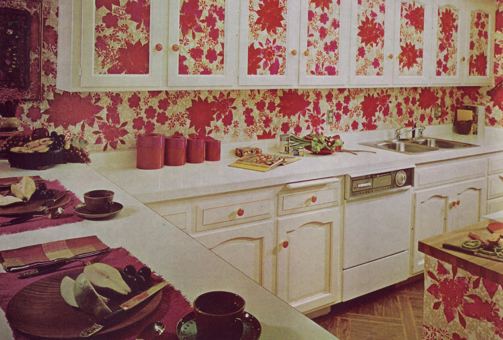 "The ""I Love Red Flowers"" Kitchen"