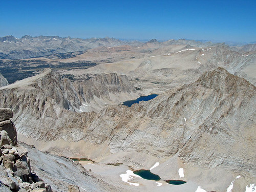 High Sierra view from Mt Whitney