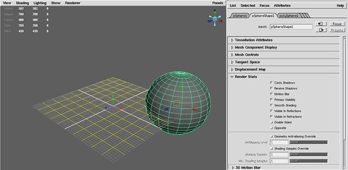 Screenshot-verify render stats in maya