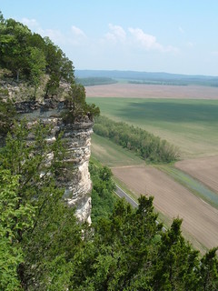 Limestone Cliff Overlooking Valley of Missouri...
