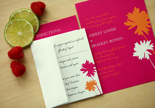 Puffs Wedding Invitations Suite, Puff, wedding invitation idea, samples, wedding invitation, flowers, photos