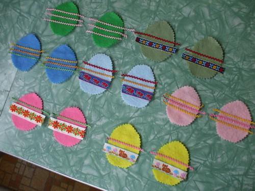 felt Easter Eggs for Pearl!