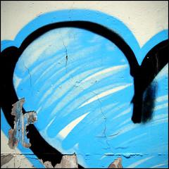 (Katerina.) Tags: blue black wall graffiti heart urbandecay vivid walls peelingpaint 500x500 haphazart haphazartblue haphazartwordplaysignssymbols haphazartlikeapainting haphazartsquare
