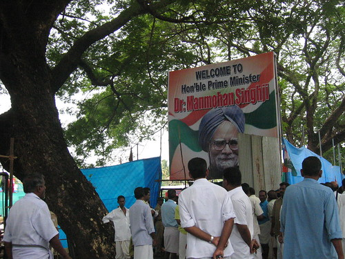 Manmohan Singh election campaign hoarding