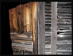Slightly ajar.. (Doogal :o) Back in VT) Tags: door texture abandoned barn rustic rusty nails knots deserted barnwood barnboard